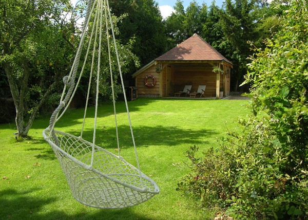 Perfect for relaxing by the barbecue on a Summer's day, this standard C-section frame has been customised to give a more flexible use.