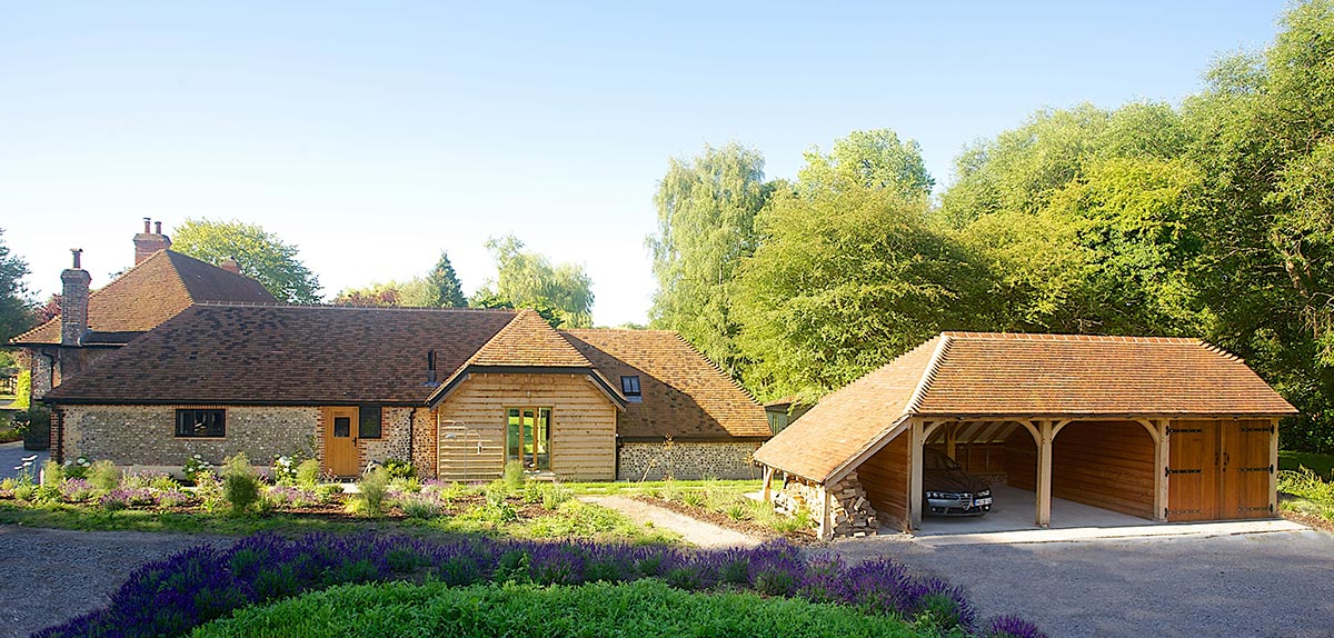 The traditional construction and use of oak is often looked favorably upon by planners and allows our buildings to sit comfortably within Areas of Outstanding Natural Beauty and Conservation Areas.