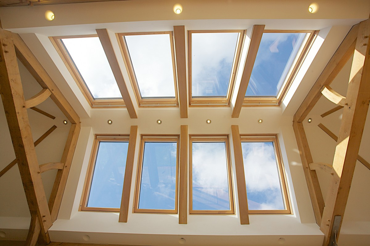 The Velux windows on both faces of the roof lets natural light flood in.